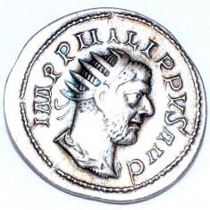 VECHE MONEDA ROMANA -IMP PHILIPPVS AUG - Moneda Antica