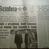 Ziarul scanteia 18 aprilie 1985 (vizita lui ceausescu in canada )
