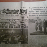 Ziarul romania libera 20 mai 1985 (vizita in tara noastra si intalnirea cu ceausescu a lui hosni mubarak )