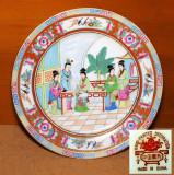Farfurii portelan China. Pictura manuala. Anii 60.