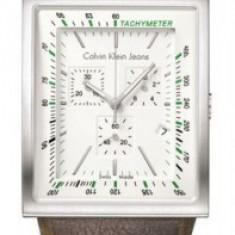 Ceas Calvin Klein tachymeter - Ceas dama Calvin Klein, Piele, Analog
