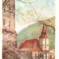 CPI (B2308) ORASUL STALIN, COMBINATUL POLIGRAFIC SIBIU, CIRCULATA 1957, STAMPILE, TIMBRE, RPR - Carte Postala Transilvania dupa 1918, Fotografie