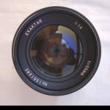 Obiectiv Exaktar 1,4/55 filet 42+capace fata-spate, Standard, Nu, Manual focus