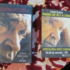 APOCALIPSA DUPA CIORAN - Gabriel LIICEANU (caseta video originala, ca noua + prima editie a cartii cu transcrierea integrala a interviului, 1995!!!) - Film Colectie, Romana