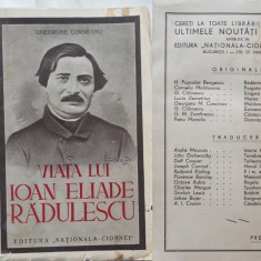 Gheorghe Corneanu , Viata lui Ioan Heliade Radulescu , 1939 , 1