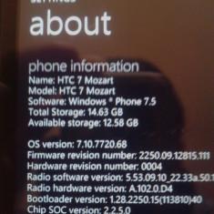 Vand/schimb htc mozart 7 - Telefon HTC, Negru, 16GB, Neblocat, Single SIM, Dual core
