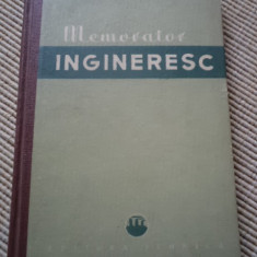 MEMORATOR INGINERESC EDITURA TEHNICA carte inginer tehnica