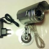 """CAMERA CAMERE DE SUPRAVEGHERE exterior/interior CCD Sony. Infrarosu Suport Alimentator Camera de supraveghere cu senzor SONY 1/3"""". lentila 3, 6mm. - Camera CCTV, Cu fir, Analogic, Color"""