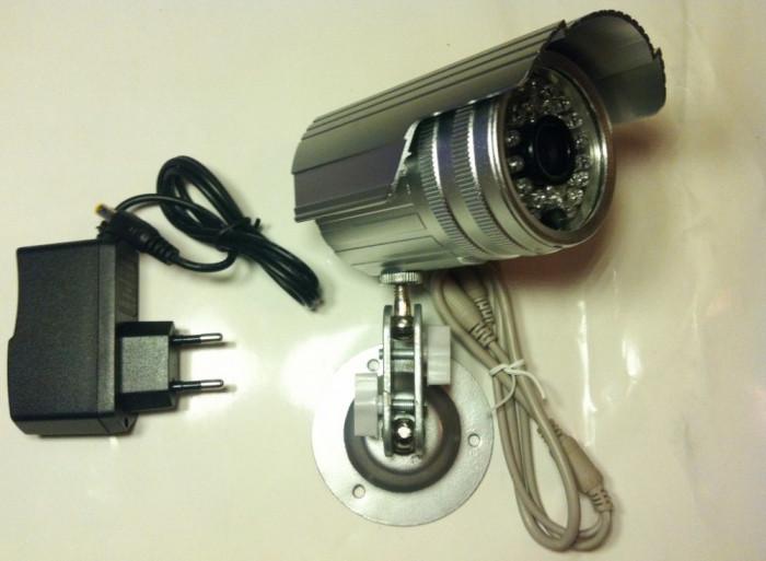 """CAMERA CAMERE DE SUPRAVEGHERE exterior/interior CCD Sony. Infrarosu Suport  Alimentator Camera de supraveghere cu senzor SONY 1/3"""". lentila 3,6mm."""