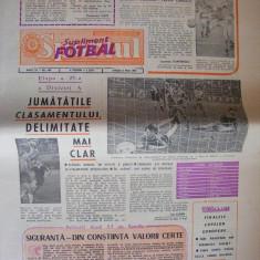 SPORTUL SUPLIMENT FOTBAL ANUL III - NR. 106, 8 mai 1987 4 pag. - Ziar