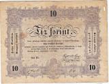 Transilvania,Ungaria,10 FORINT=10 FLORINI 1848,seria scrisa manual,legenda si in romana cu litere cirilice,semnatura lui Kossuth Lajos