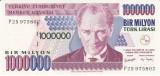 Bancnota Turcia 1.000.000 Lire (2002) - P213 UNC