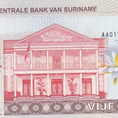 Bancnota Suriname 5 Dolari 2004 - P157 UNC