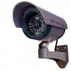 CAMERA CAMERE VIDEO SUPRAVEGHERE FALSE SET 2 BUC model de exterior/interior cu leduri pentru vedere nocturna : foarte realista - Camera falsa