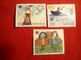 Serie- Ziua Internationala a Copilului - Desene copii 1979 Faroer , 3 val.