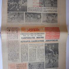 SPORTUL SUPLIMENT FOTBAL ANUL III - NR. 124, 11 SEPT. 1987 4 pag.(pag. 1 dreapta jos foto