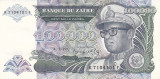 Bancnota Zair 100.000 Zaires 1992 - P41 UNC