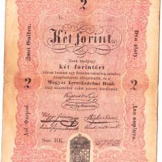 "Transilvania,Ungaria,2 FORINT ""DOI FLORINI"" 1848,seria scrisa manual,legeda si in romana cu litere cirilice,semnatura lui Kossuth,RARA!!!"