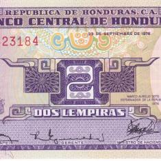 Bancnota Honduras 2 Lempiras 1976 - P61 UNC (comemorativa)