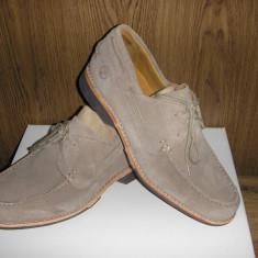 OFERTA! Pantofi TIMBERLAND Earth Keepers originali noi piele intoarsa bej 43 - Pantof barbat Timberland, Marime: 42.5, Culoare: Greige, Casual