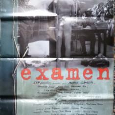 Afisul filmului romanesc Examen , cu Gheorghe Dinica si Valentin Uritescu , afis film
