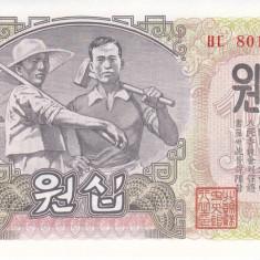 Bancnota Coreea de Nord 10 Won 1947 - P10Ab UNC - bancnota asia