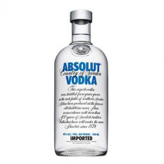 STICLE GOALE ABSOLUT VODKA 0.7 L, 700 ML, IMPECABILE !