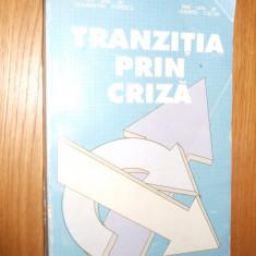 TRANZITIA PRIN CRIZA  -- C. Popescu (autograf), D. Ciucur  - 1995, 446 p.
