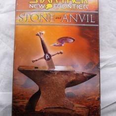 Star Trek - PETER DAVID: New Frontier - Stone and Anvil - read by Joe Morton - 3 Audio Cassette Book Set - English language - Audiobook Altele