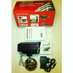 """CAMERA CAMERE DE SUPRAVEGHERE exterior/interior CCD Sony. Infrarosu Suport Alimentator Camera de supraveghere cu senzor SONY 1/3"""". lentila 6 mm."""