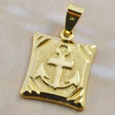 PANDANT AUR FILAT HRISTOS ANCORA 9 K - Pandantiv placate cu aur
