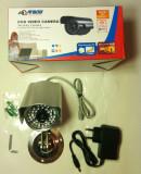 CAMERA CAMERE DE SUPRAVEGHERE exterior/interior CCD Sony. Infrarosu Suport Alimentator Camera de supraveghere cu senzor SONY . lentila 8 mm.