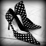 Pantofi cu buline - Pantof dama, Culoare: Nero, Marime: 37, Nero