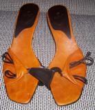 Pantofi dama Zara marime 39, Orange, Cu toc