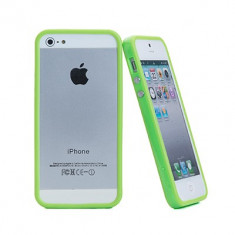 Bumper verde iphone 5 5G + folie protectie ecran
