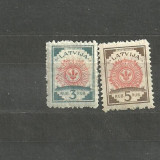 LETONIA 1918 - STEME, 2 timbre nestampilate cu sarniera A24