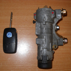 Set contact cheie briceag 2 butoane VW Golf Bora Octavia - Contact auto