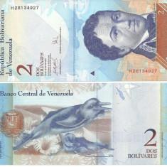 VENEZUELA- 2 BOLIVARES 2007- UNC!! - bancnota america