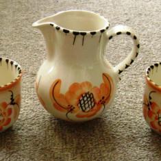 Set / Serviciu mic dejun - ceramica - semnata - Arta Ceramica