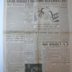 ROMANIA LIBERA - VINERI 2 MARTIE 1945 - REDACTOR GRIGORE PREOTEASA - CARICATURI NELL COBAR - Ziar