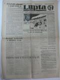 LUPTA CFR -  DUMINICA 29 DECEMBRIE 1946 - ORGAN SAPTAMANAL AL UNIUNII SINDICATELOR UNITE ALE SALARIATILOR CFR