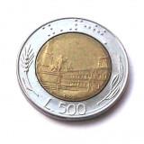 ITALIA 500 LIRE 1990 BIMETAL **