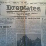 Ziarul dreptatea 29 ianuarie 1991 (organ al partidului national taranesc crestin si democrat )