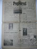 ZIARUL POPORUL - ANUL 1 NR.62 - 14 APRILIE 1946 - COTIDIAN INDEPENDENT DE ATITUDINE DEMOCRATICA - DIRECTOR I. V. NICOLESCU