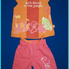 CA NOU, SUPERB _ Set tricou + pantaloni scurti, bumbac, CRI-CRI _ fete | 6 luni, Marime: Alta, Culoare: Roz