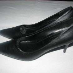 Pantofi dama Valentino Conte, noi, marimea 39 - Pantof dama, Culoare: Negru, Negru, Cu toc