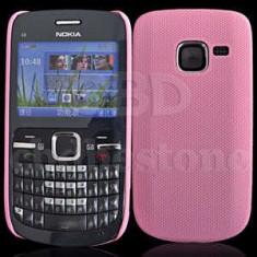 Husa roz mesh Nokia C3 husa +  folie protectie ecran + expediere gratuita cu Posta Romana