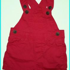 DE FIRMA → Salopeta de vara, bumbac subtire ZARA → copii | 6—9 luni + | 68—74 cm, Rosu, Fete