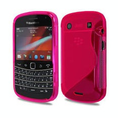 husa roz  silicon antiradiatii blackberry 9900 9930
