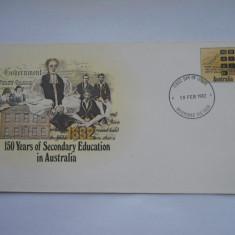 FDC Australia-150 de ani de Educatie Secundara 1982